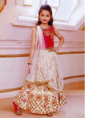 Traditional Printed Choli Suit for Girls