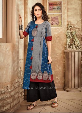 Traditional Printed Palazzo Set