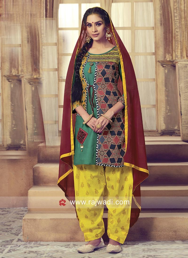 Traditional Printed Patiala Salwar Suit