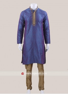 Traditional Purple Color Kurta Pajama