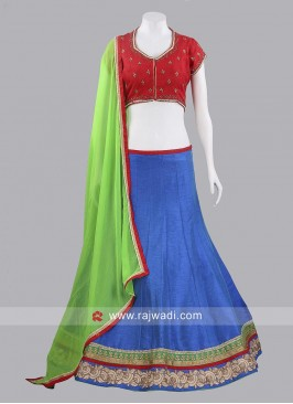 Traditional Raw Silk Chaniya Choli