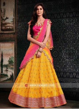 Traditional Raw Silk Lehenga Choli