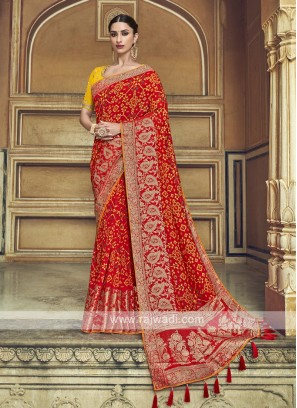 Traditional Red Color Saree
