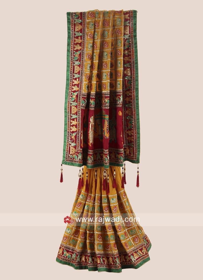 Traditional Satin Silk Heavy Gharchola Saree