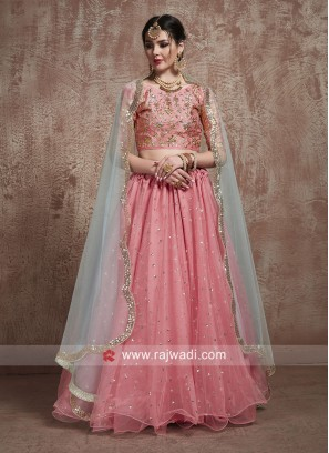 Traditional Sequins and Zari Work Lehenga Set