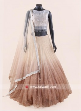 Traditional Shaded Net Lehenga Choli