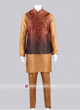 Traditional Silk Fabric Koti Set
