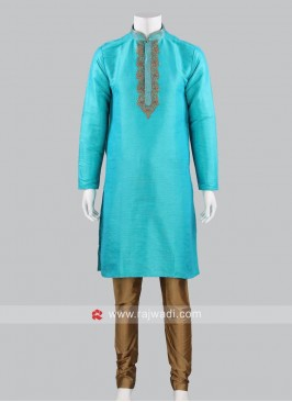 Traditional Silk Fabric Kurta Pajama