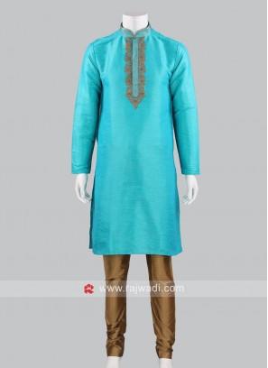 Traditional Silk Fabric Kurta Pajama