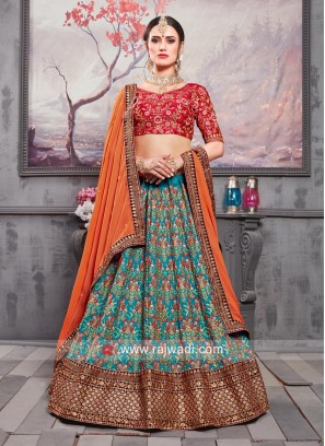 Traditional Silk Lehenga Choli