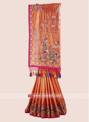 Traditional Silk Saree with Border