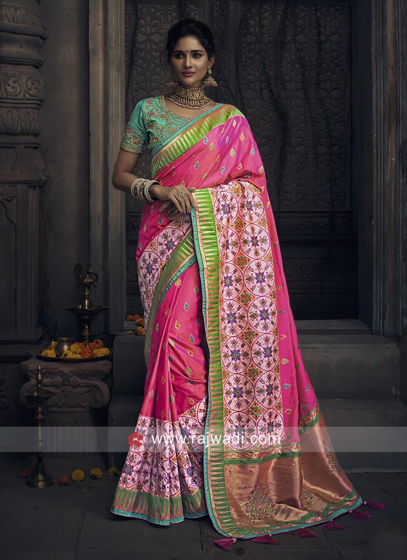 Traditional Silk Saree with Tassels