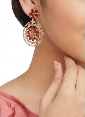 Traditional Stone Work Earrings