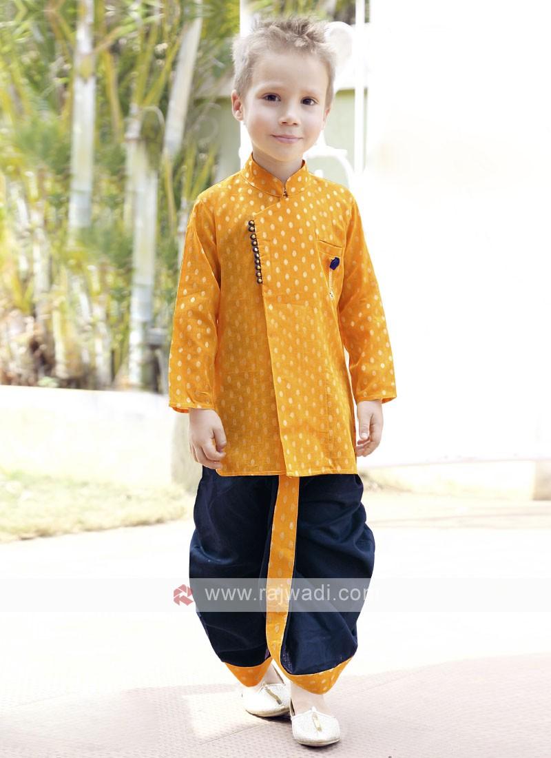 Traditional Wear Golden & Blue Indo Western