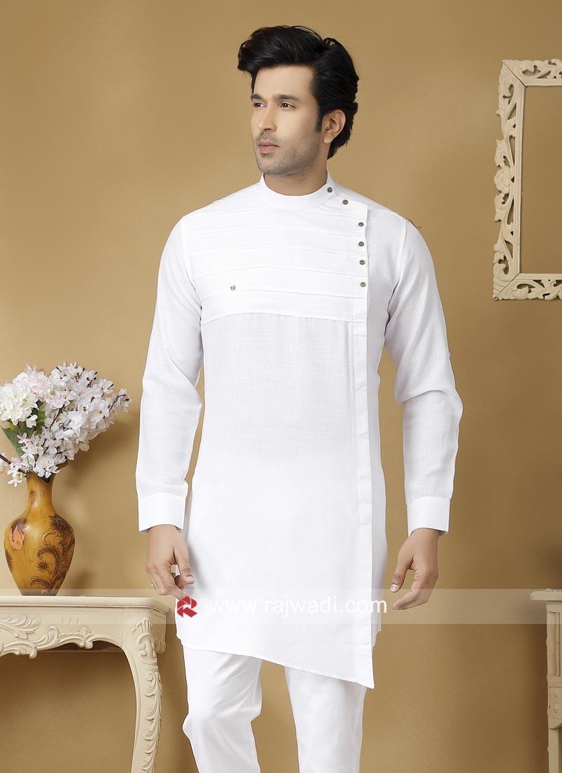 Traditional White Color Kurta
