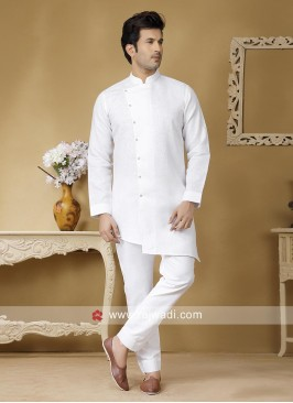 Traditional White Color Kurta Set