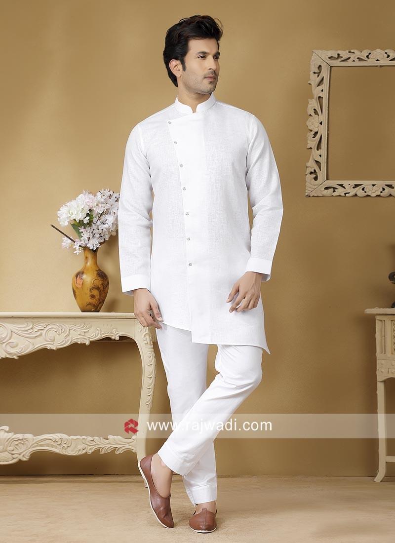Traditional White Color Kurta Set