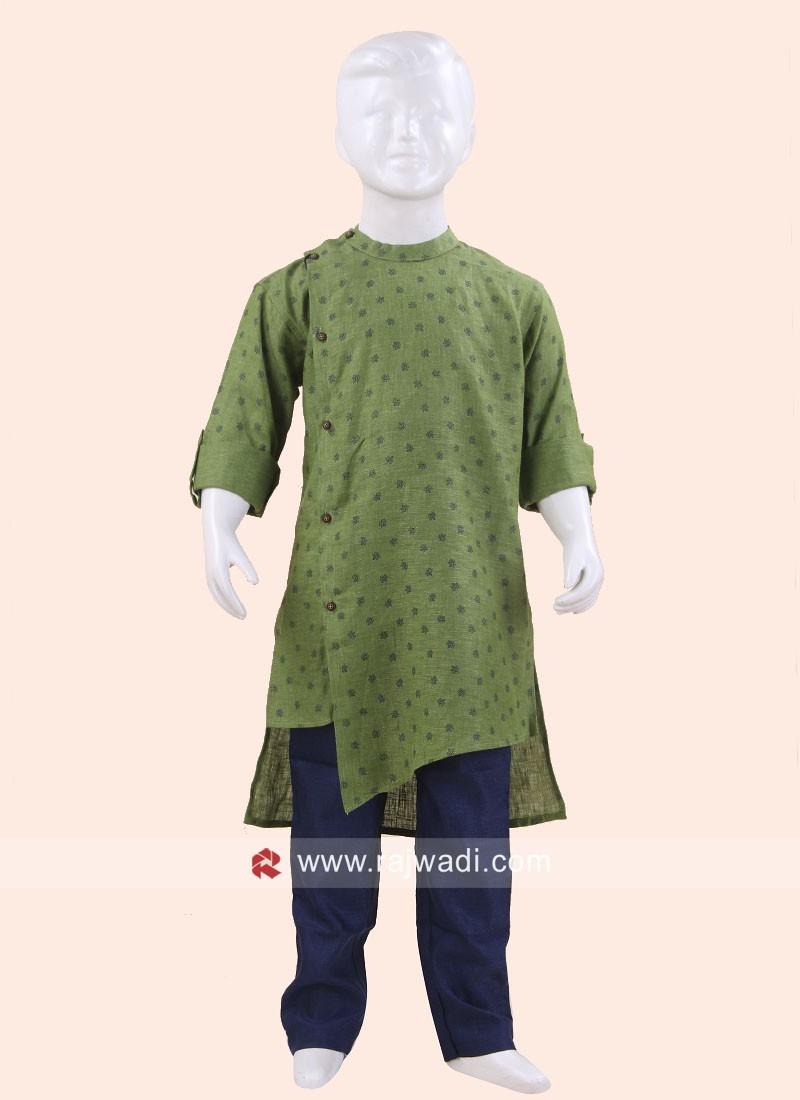 Traditional Green Pathani Set For Boys