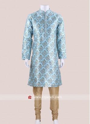 Traditional Flower Print Kurta Pajama