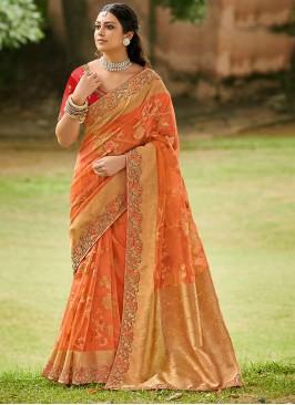 Transcendent Tissue Festival Designer Traditional Saree