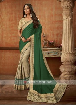 Trendy Half N Half Silk Saree