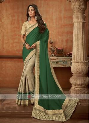 Trendy Half N Half Silk Saree