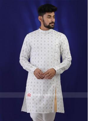 Trendy White Color Kurta