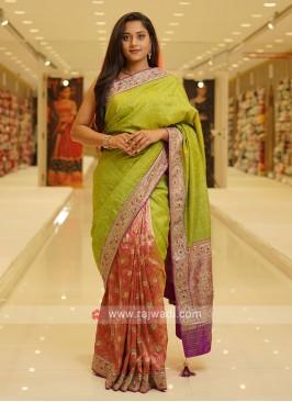 Banarasi And Raw Silk Saree