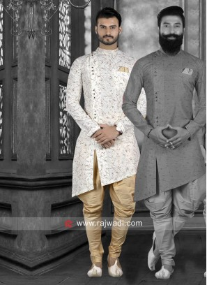 Stylish Off White Indo Western For Wedding