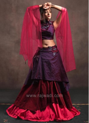 Triple Layered Choli Set with Dupatta