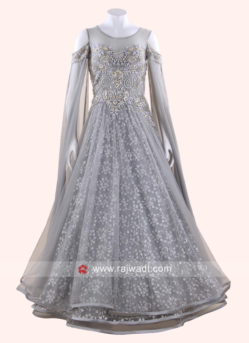 Triple Layered Grey Gown