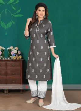 Trouser Style Cotton Silk Suit