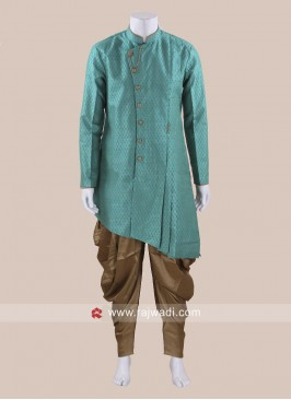 Turquoise Color Mens Patiala Suit