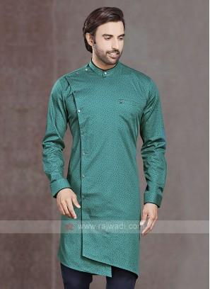 Turquoise Color Printed Kurta