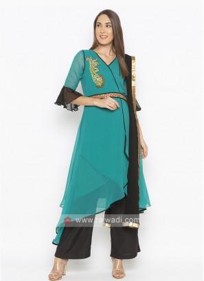 Turquoise Colour Salwar Suit