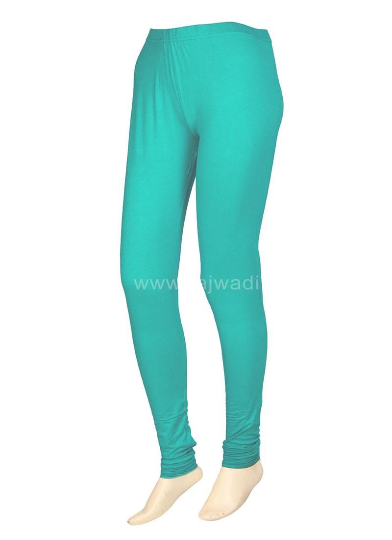 Turquoise Coloured Casual Leggings