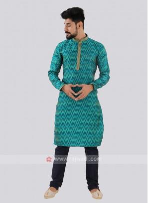 Turquoise & Navy Kurta Pajama