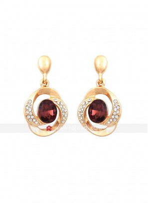 Twisted Tales Brown Crystal Earrings