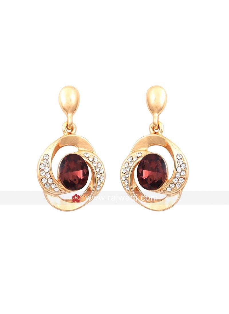 Twisted Tales Brown Crystal Earrings