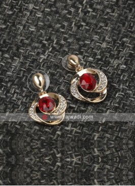 Twisted Tales Red Crystal Earrings