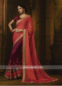 Two Tone Color Saree