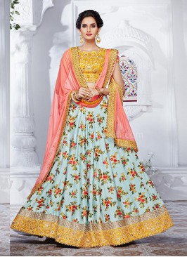 Two Tone Designer Wedding Lehenga Saree