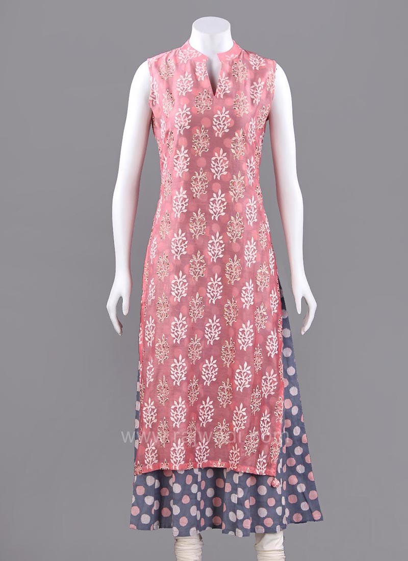 Two Tone Double Layered Long Kurti