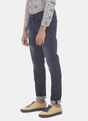 U S POLO Men Blue Slim Tapered Fit Stretch Jeans