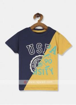 U.S.POLO MUSTARD-YELLOW T-SHIRT