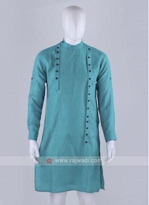 unique style rama green kurta