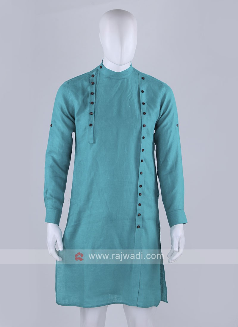 unique style rama green kurta