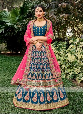 Unstiched Silk Lehenga Choli