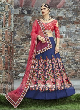 Unstitched Art Silk Lehenga Choli