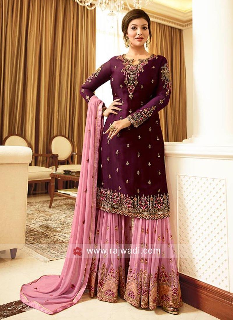 Unstitched Ayesha Takia Gharara Suit